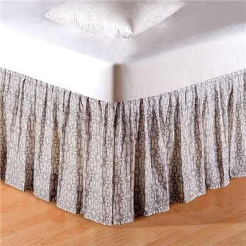 Fretwork Queen Bedskirt