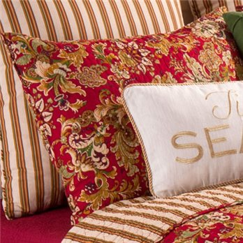 Jocelyn Red Standard Sham