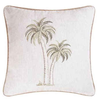Barbados Sea Pair of Palms Pillow