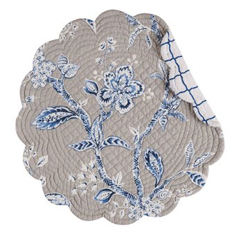 Annabelle Blue Round Quilted Placemat