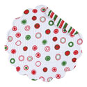 Christmas Bubbles Round Quilted Placemat