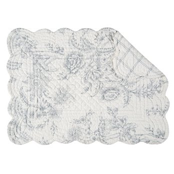 Clementina Cement Rectangular Quilted Placemat