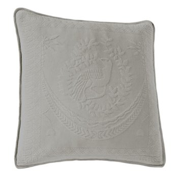 King Charles Matelasse Grey 20 inch Decorative Pillow