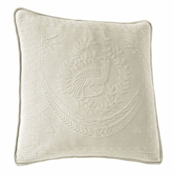 King Charles Matelasse Ivory 20 inch Decorative Pillow