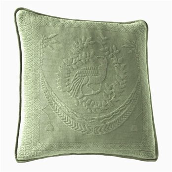King Charles Matelasse Sage 20 inch Decorative Pillow