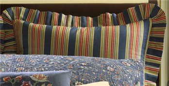 Wakefield Stripes Euro Sham for Wakefield Floral Quilt