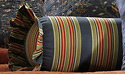 Wakefield Stripes Neckroll Pillow for Wakefield Floral Quilt