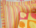 Multi Coral Stripes Euro Sham for Flamingo Fun Quilt