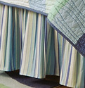 Ocean Stripes Twin Bedskirt for Ocean Wave Quilt