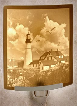 Portland Head Lighthouse Night Light by Porcelain Garden