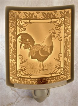 Rooster Night Light by Porcelain Garden