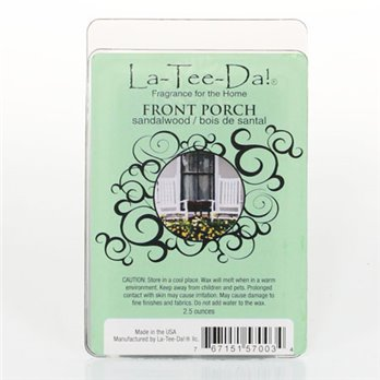 La-Tee-Da Wax Melts Front Porch - Sandalwood
