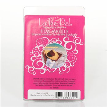 La-Tee-Da Wax Melts Stay Awhile - Tropical Vanilla