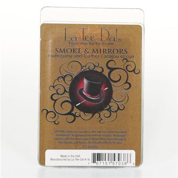 La-Tee-Da Wax Melts Smoke & Mirrors - Mahogany & Leather