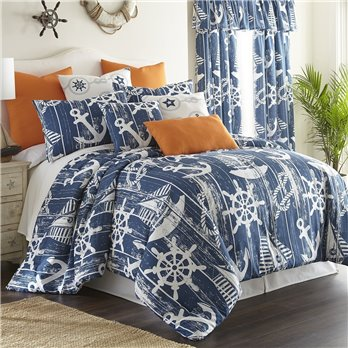 Nautical Board Comforter Set Queen