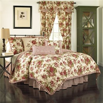 Waverly Norfolk reverislbe 4-piece Queen quilt set