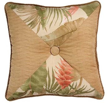 La Selva Natural Square Button Pillow