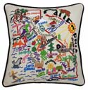 California Embroidered Pillow