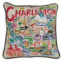 Charleston Embroidered Pillow