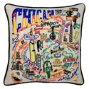 Chicago Embroidered Pillow