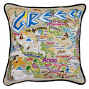 Greece Embroidered Pillow