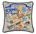 Israel Embroidered Pillow
