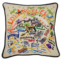 Los Angeles Embroidered Pillow