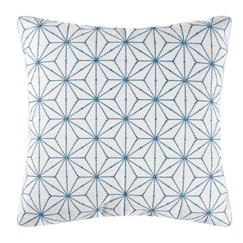 Adrienne Embroidered Geometric Pillow
