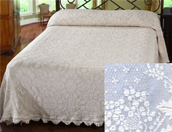 Colonial Rose Queen Wedgewood Blue Bedspread