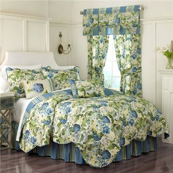Floral Flourish Full Queen Waverly Quilt Set
