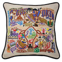 Fort Worth Embroidered Pillow