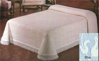 Heirloom King French Blue Bedspread