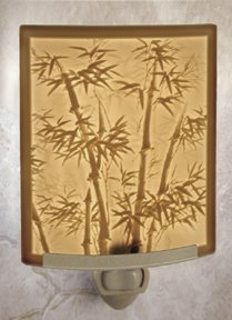 Bamboo Night Light by Porcelain Garden