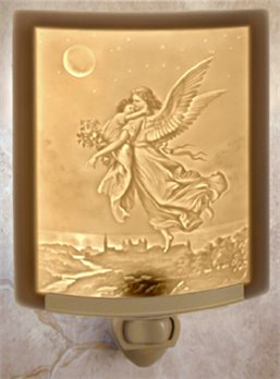 Guardian Angel Night Light by Porcelain Garden