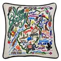 New Jersey Embroidered Pillow