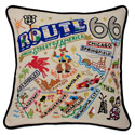 Route 66 Embroidered Pillow