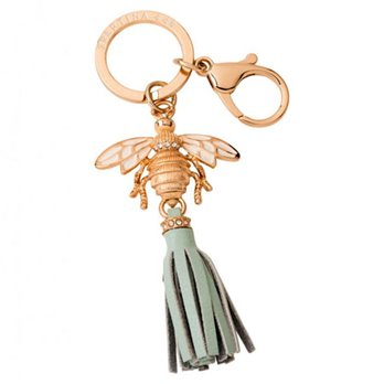 Spartina 449 Elephant Key Chain-Gold