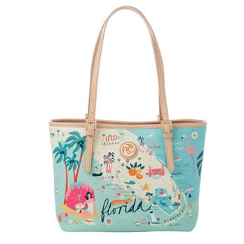 Spartina 449 Greetings from Florida Small Tote (with zipper)