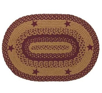 Star Wine 4 ft X 6 ft Rug Oval