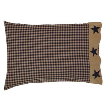 Teton Star Pillow Case Applique Star Border Set of 2