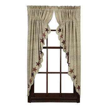 Abilene Star Prairie Curtain Set of 2 63 x 36