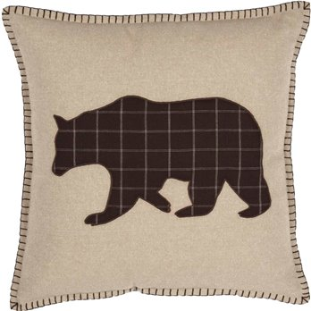 Wyatt Bear Applique Pillow