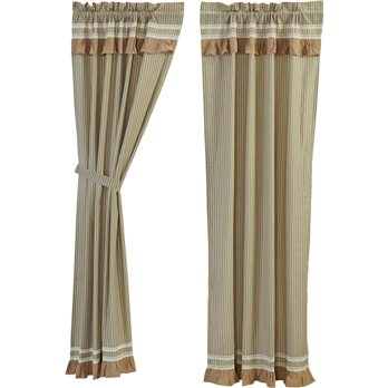 Kendra Stripe Green Panel set of 2 (84L x 40W)