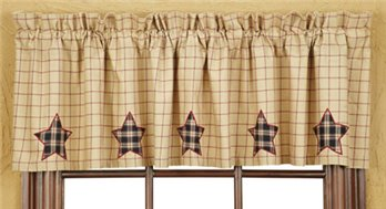 Bingham Star Applique Star Valance 16 x 72
