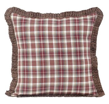 Tacoma Ruffled Fabric Pillow 16 x 16