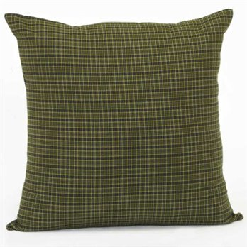 Tea Cabin Green Plaid Fabric Pillow 16 x 16