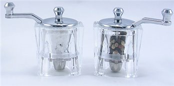 Indi Acrylic Salt Mill and Pepper Mill Set (3 in.)