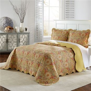 Waverly Swept Away 3 Piece Queen Bedspread Set