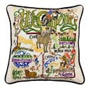 Wyoming Embroidered Pillow