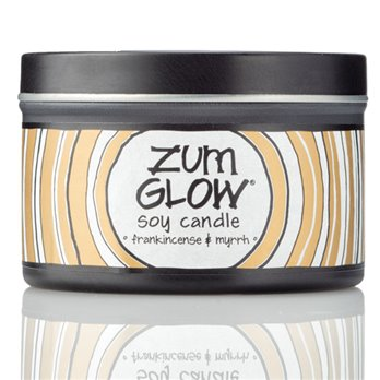 Zum Glow Frankincense and Myrrh Soy Candle in a Tin (7 oz.)